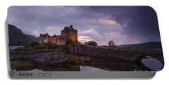 Sunset At Eilean Donan Castle Portable Battery Charger