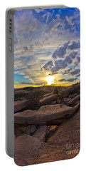 Sunset At Enchanted Rock State Natural Area Portable Battery Charger