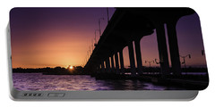 Sunset At Jensen Beach Portable Battery Charger by Fran Gallogly