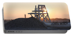 Sunset At Jones Beach Portable Battery Charger by John Telfer