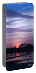 Sunset At Malibu Beach Lagoon Estuary Fine Art Photograph Print Portable Battery Charger