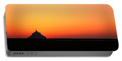 Sunset At Mont Saint Michel Normandy Portable Battery Charger
