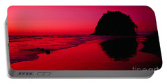 Sunset At Neskowin Beach- Proposal Rock Portable Battery Charger