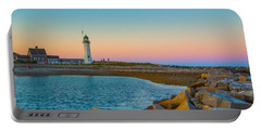 Sunset At Old Scituate Lighthouse Portable Battery Charger