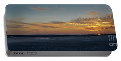 Portable Battery Charger featuring the photograph Sunset At Pocono Airport by Gary Keesler
