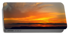 Sunset At Point Loma From Coronado California Portable Battery Charger