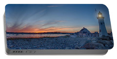 Sunset At Scituate Light Portable Battery Charger