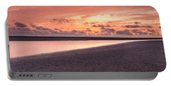 Sunset At The Bay Of Mont Saint-michel Portable Battery Charger