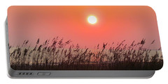 Portable Battery Charger featuring the photograph Sunset At The Beach by Cynthia Guinn