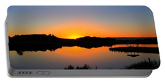 Sunset At The James M. Robb State Park Portable Battery Charger by Bob Hislop