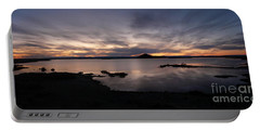 Sunset Over Lake Myvatn In Iceland Portable Battery Charger