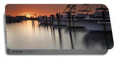 Sunset At The Pelican Yacht Club Portable Battery Charger by Fran Gallogly