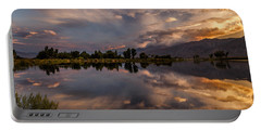 Sunset At The Pond Portable Battery Charger