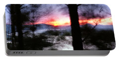 Sunset Atop Windy Emerald Park Portable Battery Charger by Jason Politte