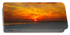 Portable Battery Charger featuring the photograph Sunset Beach New York by Chris Lord