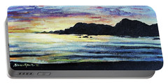 Portable Battery Charger featuring the painting Sunset Beach by Shana Rowe Jackson