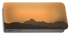 Sunset Behind The Julian Alps Portable Battery Charger