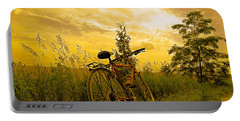 Sunset Biking Portable Battery Charger by Nina Silver