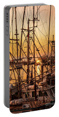 Sunset Boat Masts At Dock Morro Bay Marina Fine Art Photography Print Sale Portable Battery Charger
