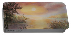 Sunset By The Lake Portable Battery Charger