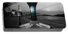 Portable Battery Charger featuring the photograph Sunset Cafe by Micki Findlay