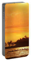Portable Battery Charger featuring the photograph Sunset Canoe by Athala Carole Bruckner