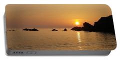 Sunset Crooklets Beach Bude Cornwall Portable Battery Charger by Richard Brookes