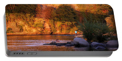 Portable Battery Charger featuring the photograph Sunset Dip by Melanie Lankford Photography