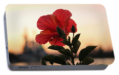 Portable Battery Charger featuring the photograph Sunset Flower by Cynthia Guinn