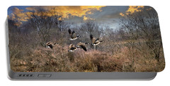 Sunset Geese Portable Battery Charger