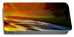 Sunset Glint In The Mist Portable Battery Charger