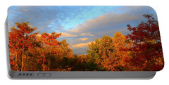 Portable Battery Charger featuring the photograph Sunset Glow by Kathryn Meyer