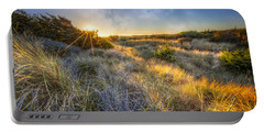 Sunset Glow On The Dunes Portable Battery Charger