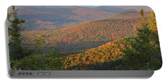 Sunset Glow Over The Autumn Landscape Portable Battery Charger