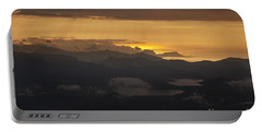 Portable Battery Charger featuring the photograph Sunset by Gunnar Orn Arnason