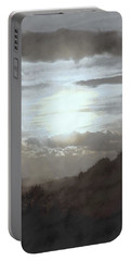 Sunset Impressions Over The Blue Ridge Mountains Portable Battery Charger by Photographic Arts And Design Studio