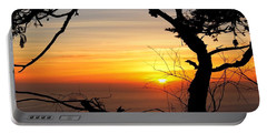 Sunset In A Tree Frame Portable Battery Charger