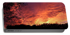 Sunset In Blue Ridge Foothills Portable Battery Charger