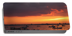 Portable Battery Charger featuring the photograph Sunset In Manhasset Bay by Dora Sofia Caputo Photographic Art and Design
