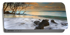 Sunset In Paradise Portable Battery Charger by Mike  Dawson