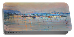 Sunset In Piermont Harbor Ny Portable Battery Charger