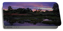 Sunset In Purple Along Highway 7 Portable Battery Charger by Peter v Quenter