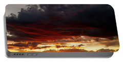 Sunset In Red Portable Battery Charger