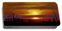 Portable Battery Charger featuring the photograph Sunset In The Black Hills 2 by Cathy Anderson