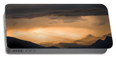 Sunset In The Mountains Portable Battery Charger