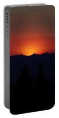 Sunset Portable Battery Charger by Janie Johnson