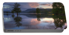 Sunset Lake Reflections Portable Battery Charger