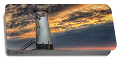 Sunset Lighthouse Portable Battery Charger by Adrian Evans