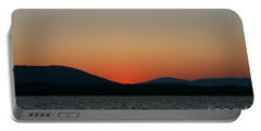 Sunset Lines Of Lake Umbagog  Portable Battery Charger