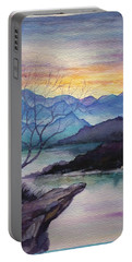 Sunset Montains Portable Battery Charger